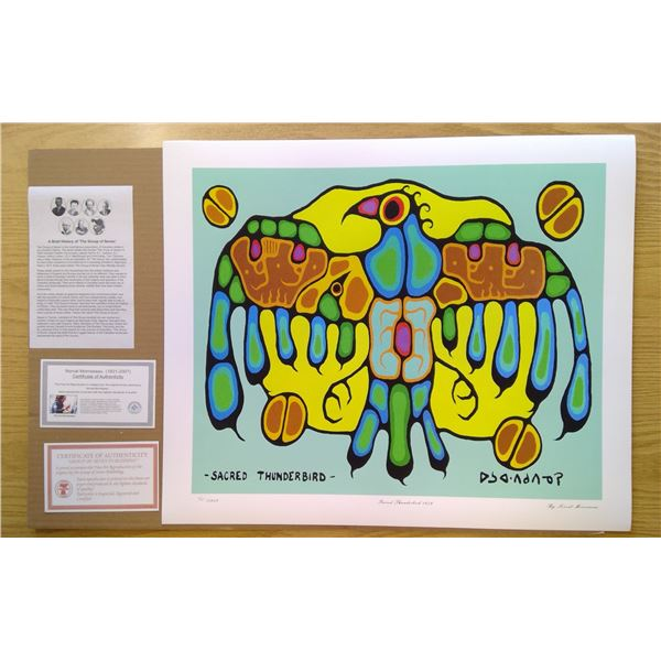 Sacred Thunderbird by Norval Morrisseau 24'x20'