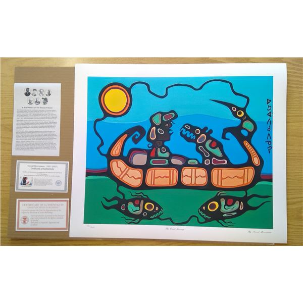 The Great Journey by Norval Morrisseau 24'x20'