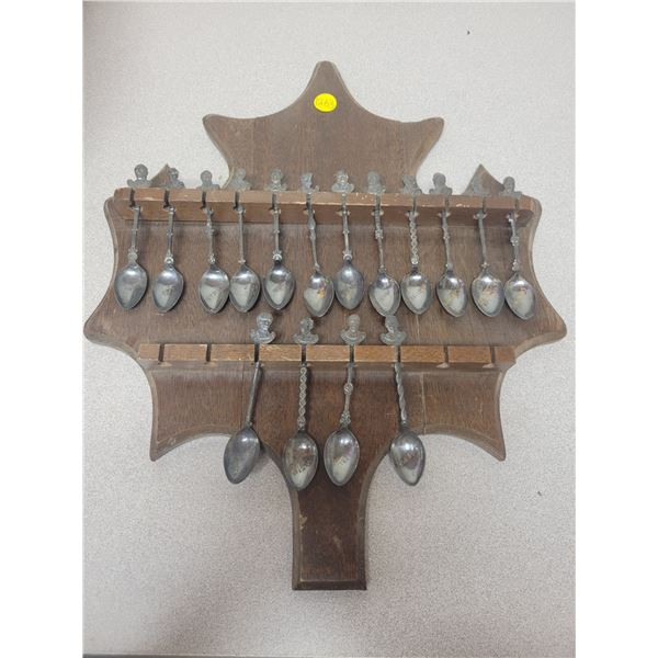 Silver plated spoons and rack (rack needs repair) Fathers of Confederation