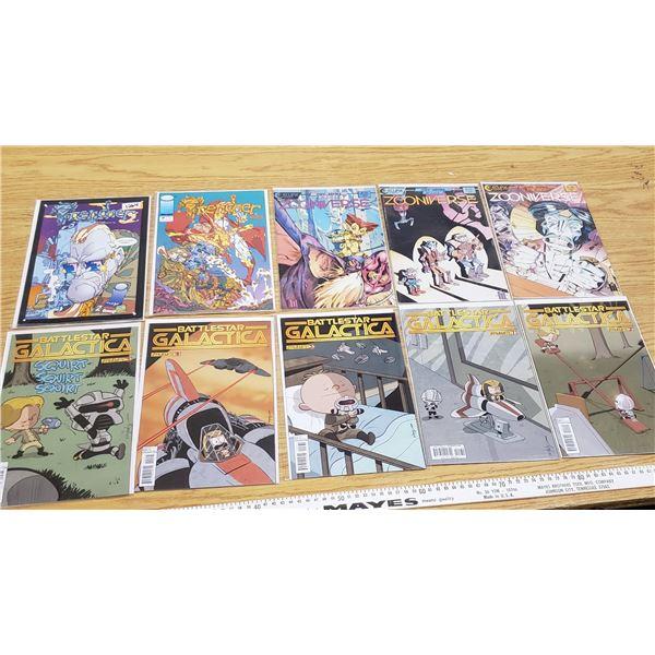 10 Comics EUC (excellent used condition)