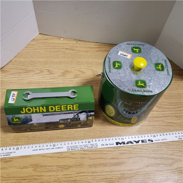 John Deere Lunch Pail and Ice Bucket