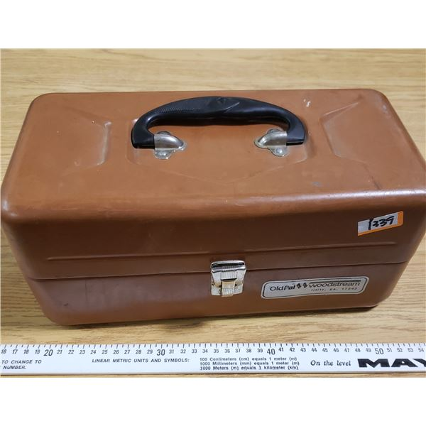 Vintage OldPal Woostream Tackle Box with NOS 70's Lures