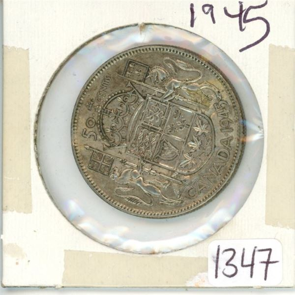 1945 Canadian 50 cent coin