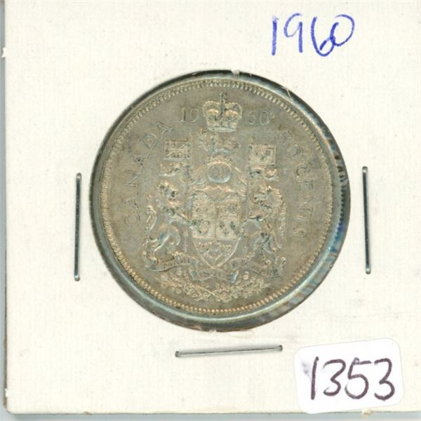 1960 Canadian 50 cent coin
