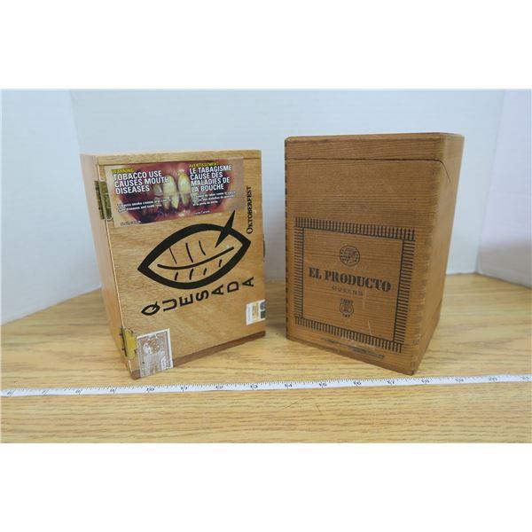 2 Cigar Boxes Quesada & Queens 5 1/4
