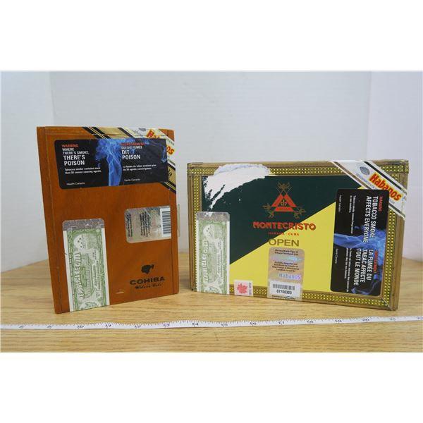 2 Cigar Boxes Cohiba and Montecristo