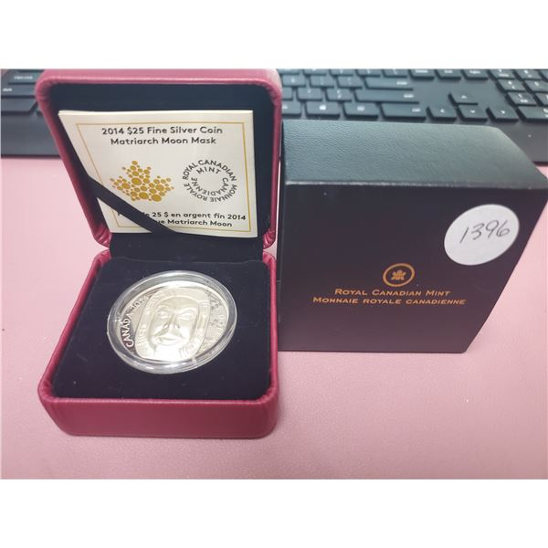 2014 - RCM - $25.00 - 30.76gm Fine Silver - Matriarch Moon Mask