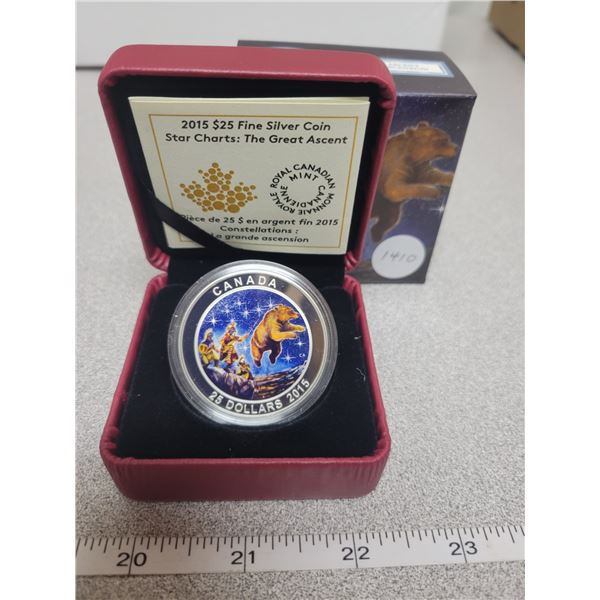2015 - RCM - $25.00 - 31.83gm Fine Silver - STAR CHARTS - The Great Ascent          (Glows in the Da
