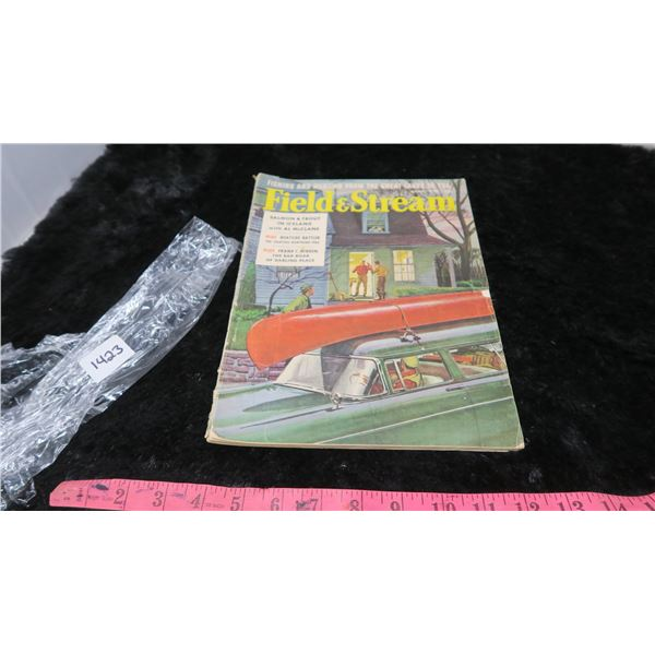 1957 FIELD-STREAM MAGAZINE -WIZARD OUTBOARD MOTOR AD