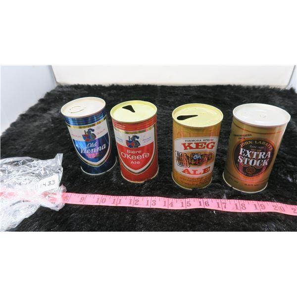 4 VINTAGE BEER CANS -EMPTY