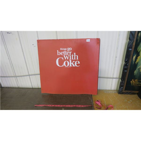 "VINTAGE COKE PANEL 25 X 24"" -METAL"