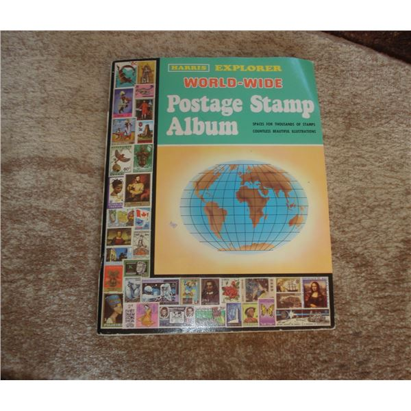 stamp album collection over 500+ stamps lot