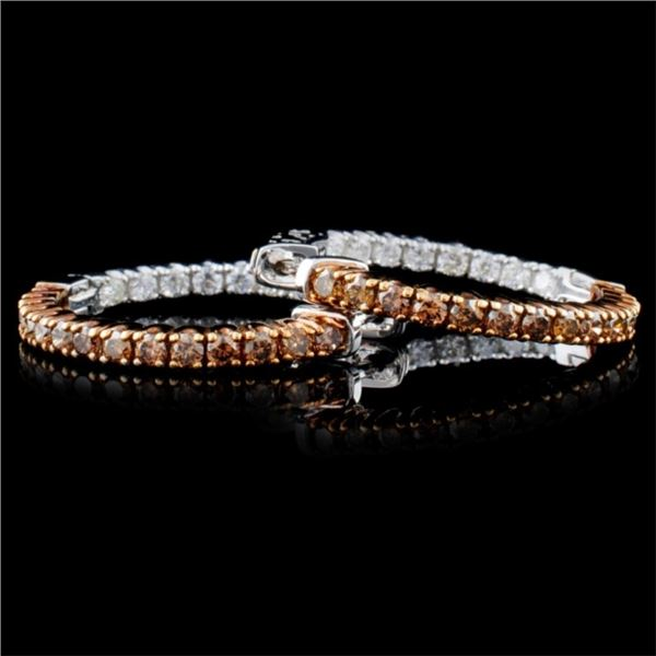 14K White Gold 1.51ctw Fancy Color Diamond Earring