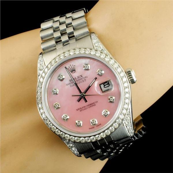 Rolex DateJust 1.50ct Diamond 36MM Wristwatch