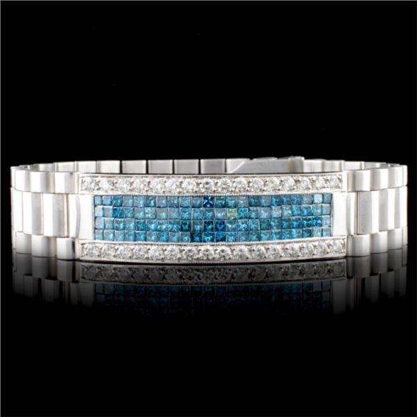 18K Gold 7.27ctw Men's Diamond Bracelet