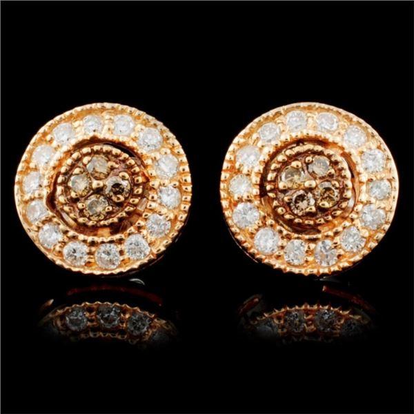 14K Gold 0.40ctw Fancy Diamond Earrings