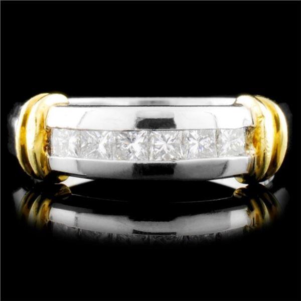 Platinum 0.42ctw Diamond Ring