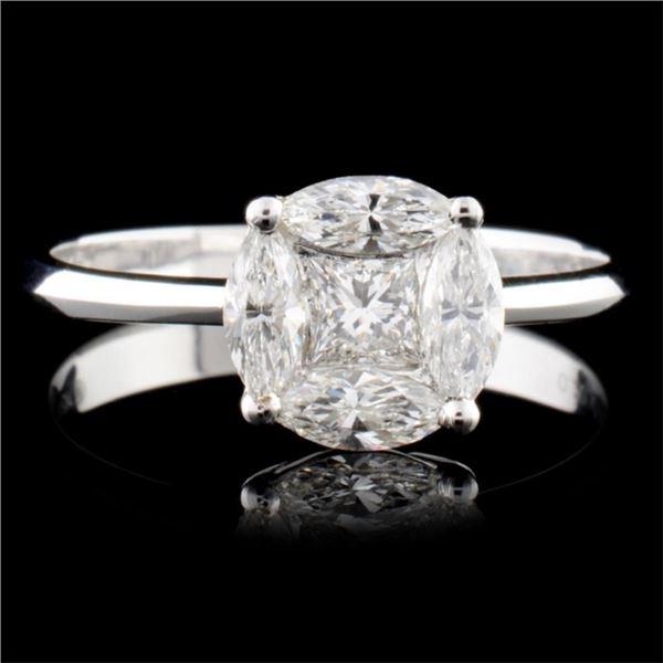 18K Gold 0.85ctw Diamond Ring