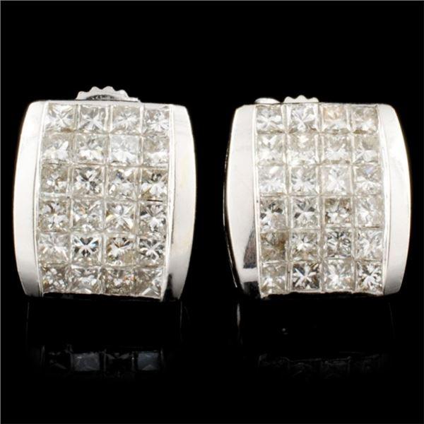 14K Gold 1.56ctw Diamond Earrings