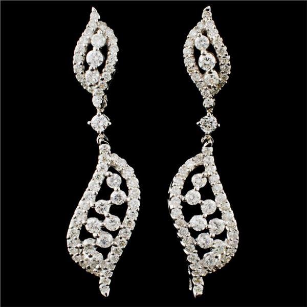 18K Gold 1.68ctw Diamond Earrings