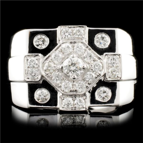 14K White Gold 2.60ctw Diamond Ring