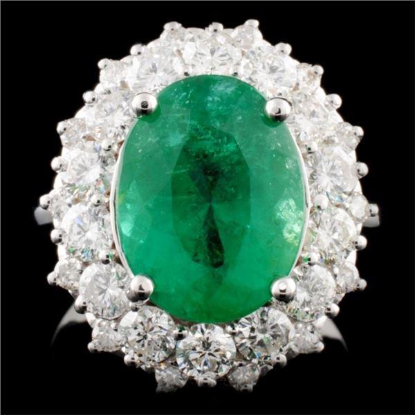 14K Gold 4.48ct Emerald & 1.71ctw Diamond Ring