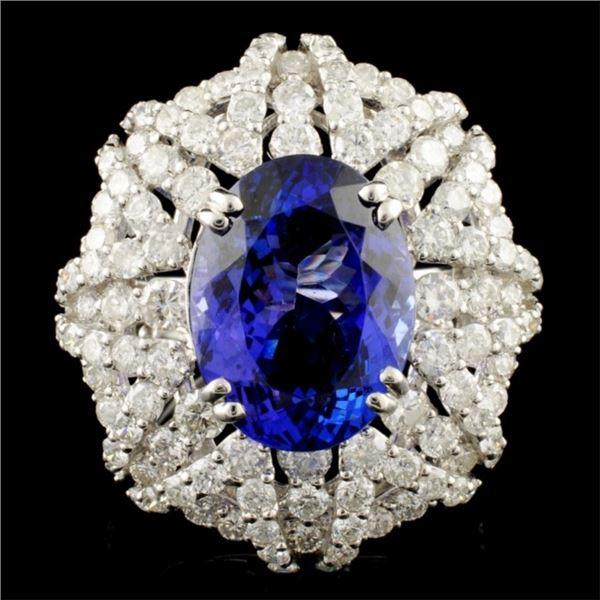 18K Gold 8.04ct Tanzanite & 3.97ctw Diamond Ring