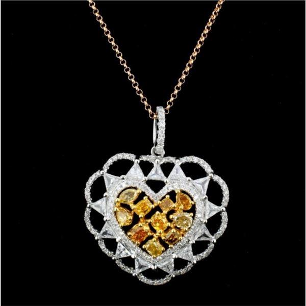 18K Gold 2.02ctw Fancy Color Diamond Pendant
