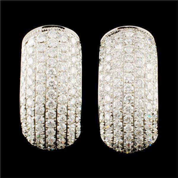 18K Gold 1.78ctw Diamond Earrings