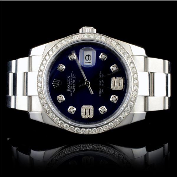 Rolex DateJust 116200 SS 1.35ct Diamond 36MM Watch