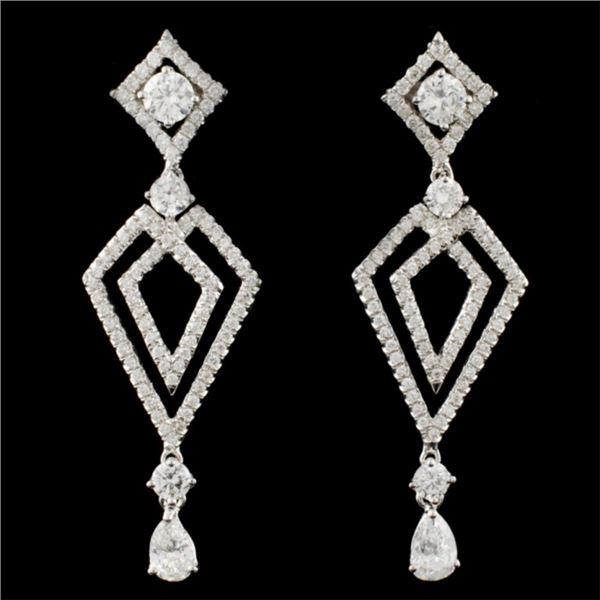 18K Gold 2.01ctw Diamond Earrings