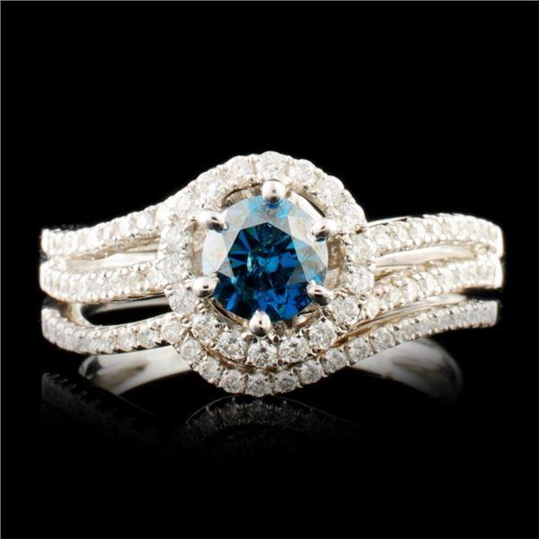 18K Gold 0.96ctw Diamond Ring