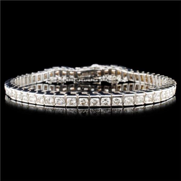 14K Gold 7.32ctw Diamond Bracelet