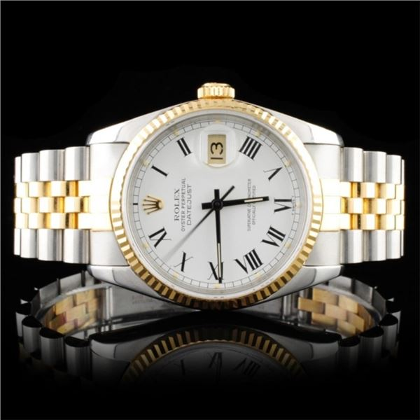 Rolex DateJust 18K & Stainless Steel Watch