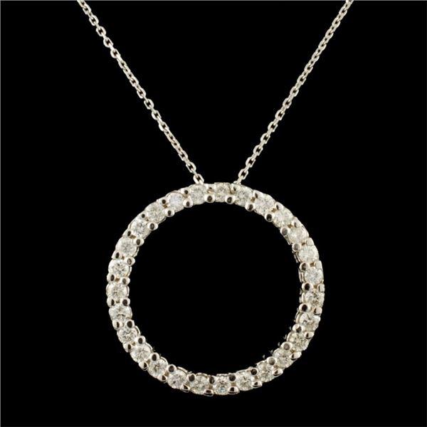 14K Gold 0.78ctw Diamond Eternity Pendant