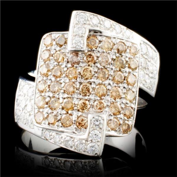 18K Gold 1.09ctw Diamond Ring