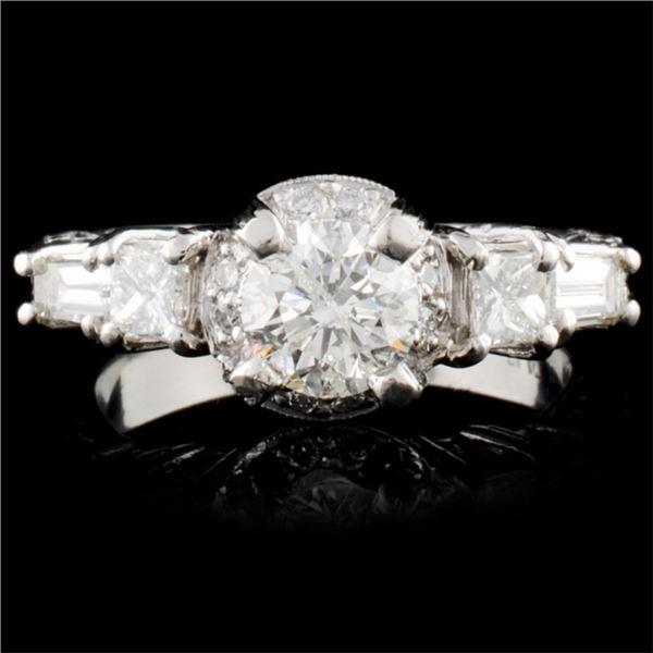 Platinum 1.35ctw Diamond Ring