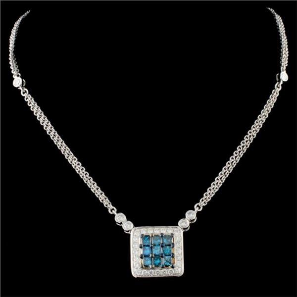 14K Gold 1.25ctw Fancy Color Diamond Necklace