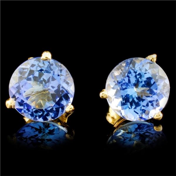 14K Gold 2.82ctw Tanzanite Earrings