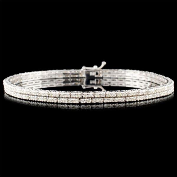 18K Gold 2.10ctw Diamond Bracelet
