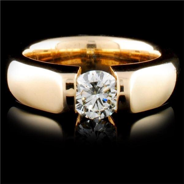 14K Yellow Gold 0.42ctw Diamond Ring
