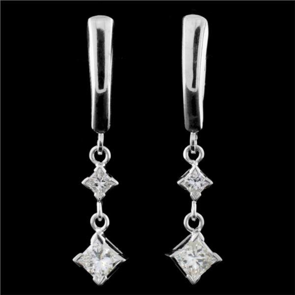 14K Gold 1.60ctw Diamond Earrings