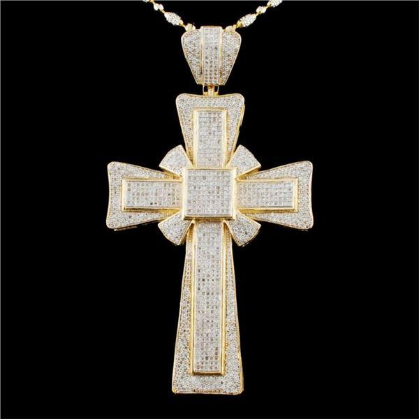 14K Gold 3.20ctw Diamond Pendant