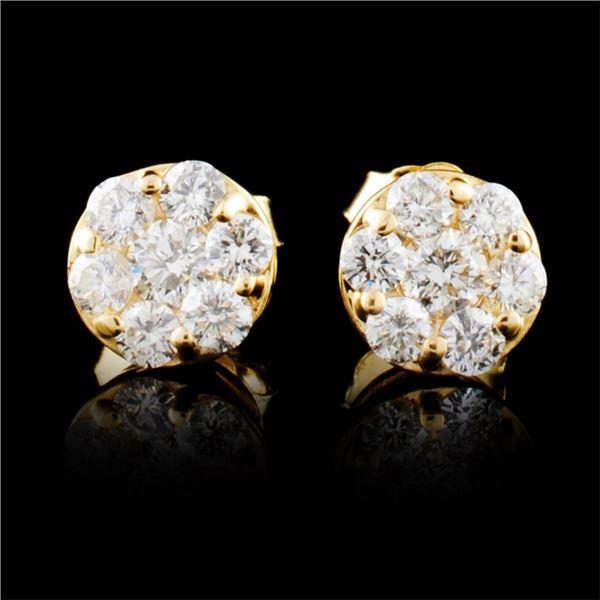 14K Gold 0.38ctw Diamond Earrings
