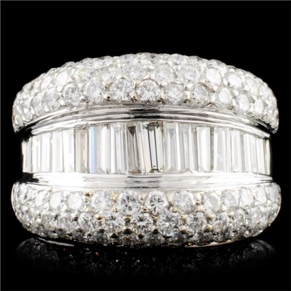 18K Gold 5.31ctw Diamond Ring