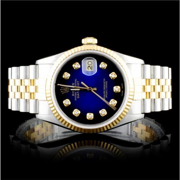 Rolex Two-Tone 36MM DateJust Diamond Wristwatch