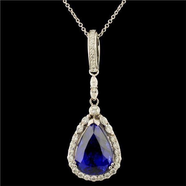 18K Gold 11.41ct Tanzanite & 1.02ctw Diamond Penda