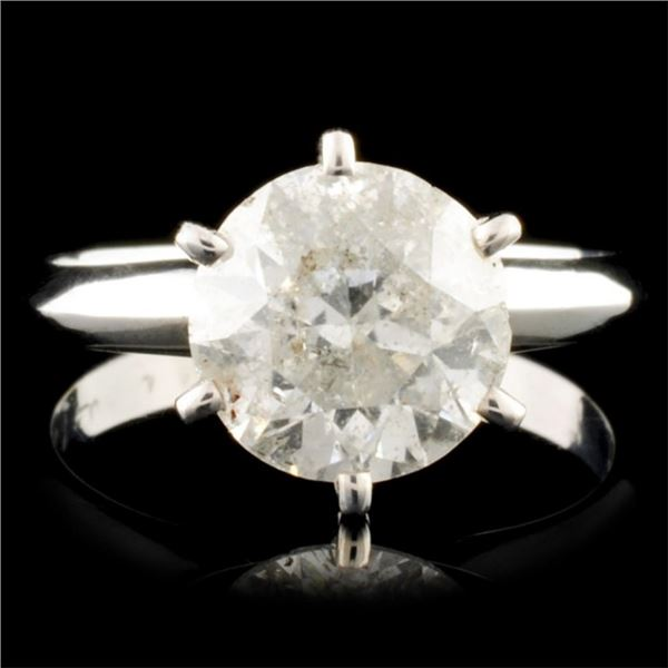 14K Gold 2.56ct Solitaire Diamond Ring