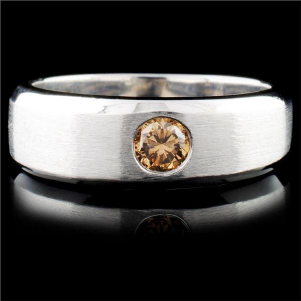 18K White Gold 0.31ctw Fancy Color Diamond Ring