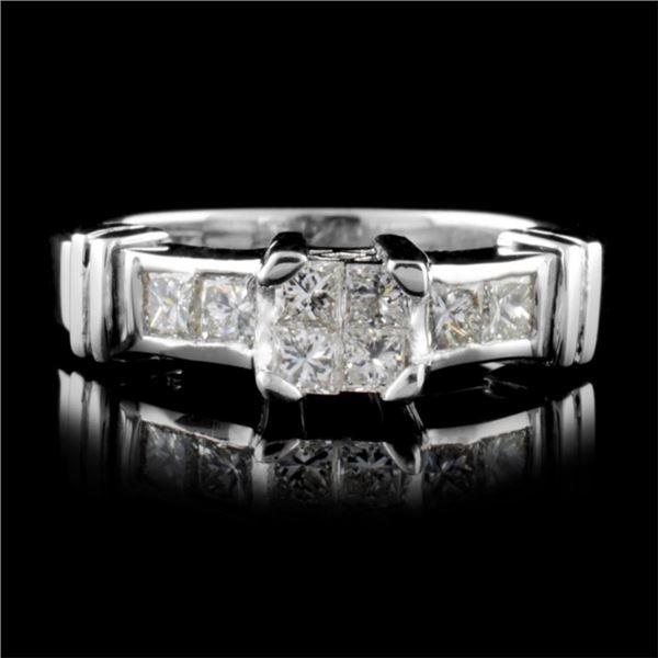 18K White Gold 0.50ct Diamond Ring